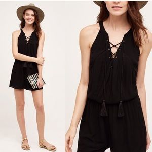 😎Brand New! Anthropologie amoret lace up romper